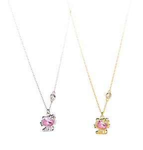 HelloKitty925银紫水晶可爱猫咪项链